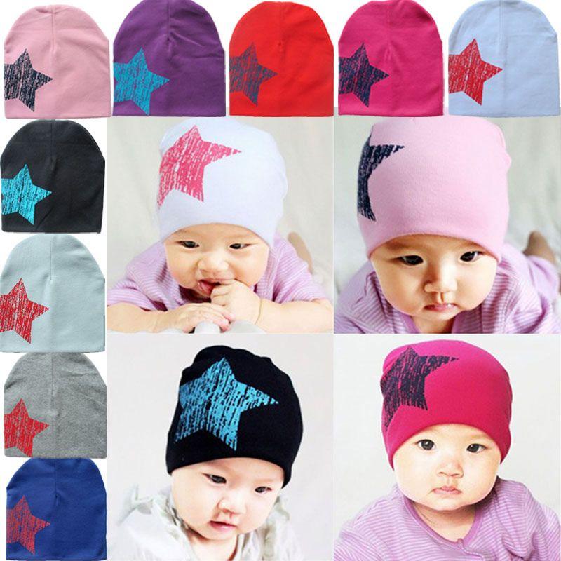2019 New Winter Autumn Crochet Baby Cotton Beanie Hat Girls Boys Cap Star  Infant Toddlers Children Caps Hats BM From Curd 035a522707d