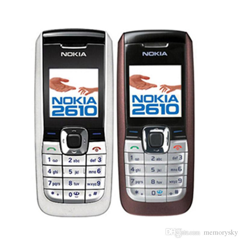 Original Refurbished Nokia 2610 Cheap Unlocked Phone Universal GSM Multi Language Cellphone English Russian Arabic Keyboard Wholesale