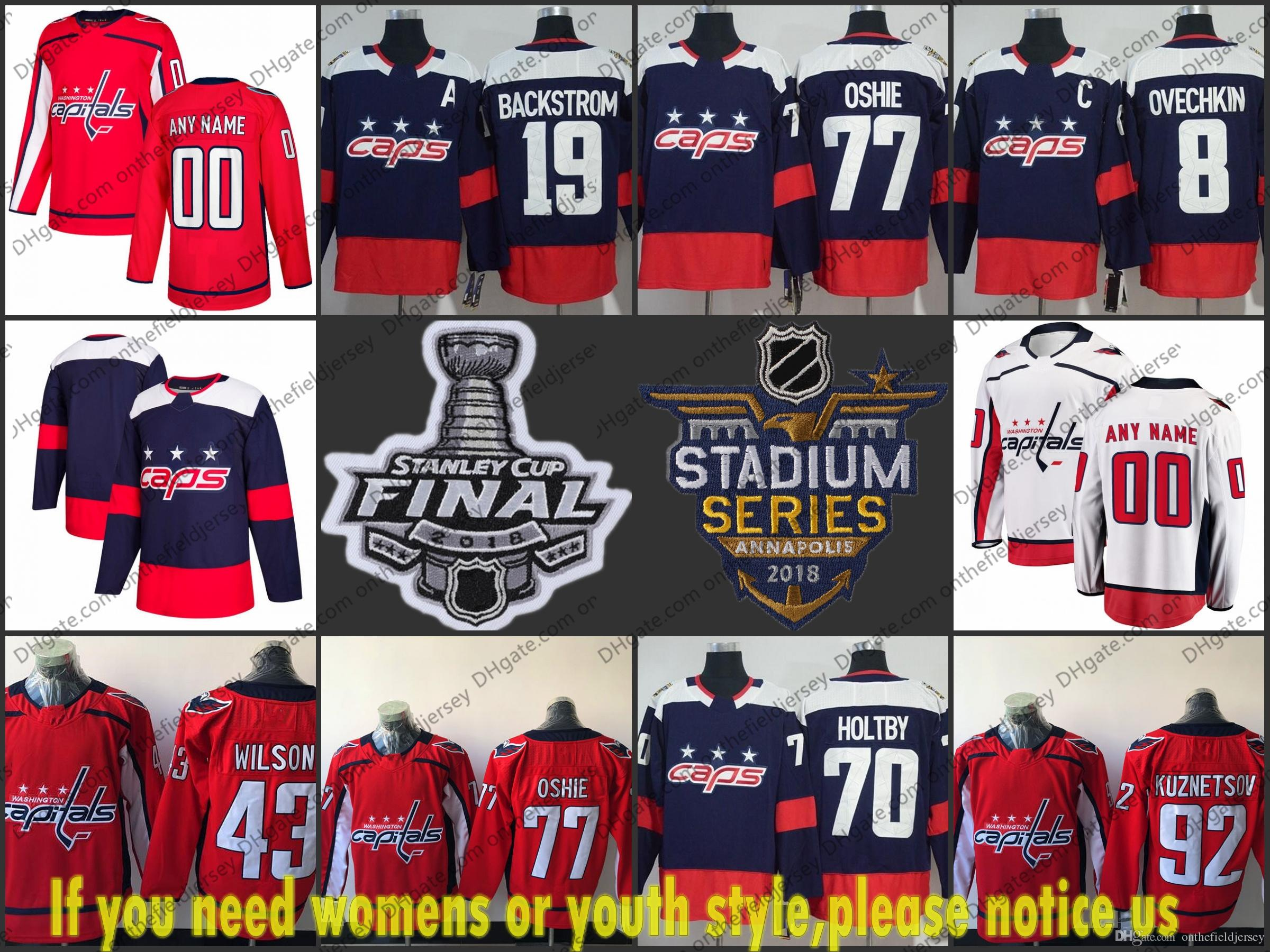 6464f3bee65 2019 2018 Stanley Cup Washington Capitals Stadium Series  8 Alexander  Ovechkin 19 Nicklas Backstrom 43 Tom Wilson 77 TJ Oshie 92 Evgeny Kuznetsov  From ...
