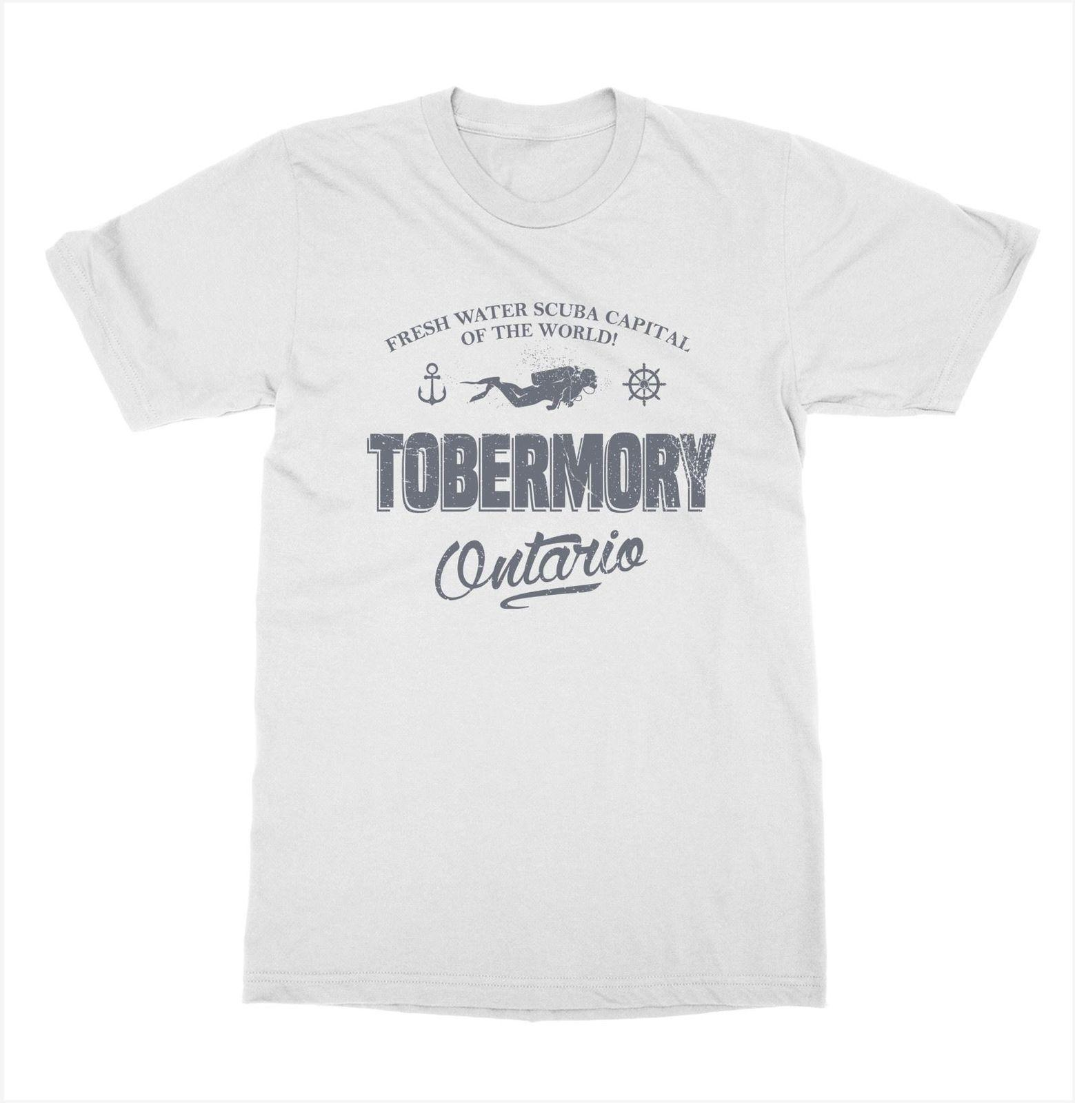 5694abb3 2018 New Men's Tobermory Ontario T Shirt Cottage Cabin Canada Vacation Camp  Outdoorer Lodge Tee Shirt