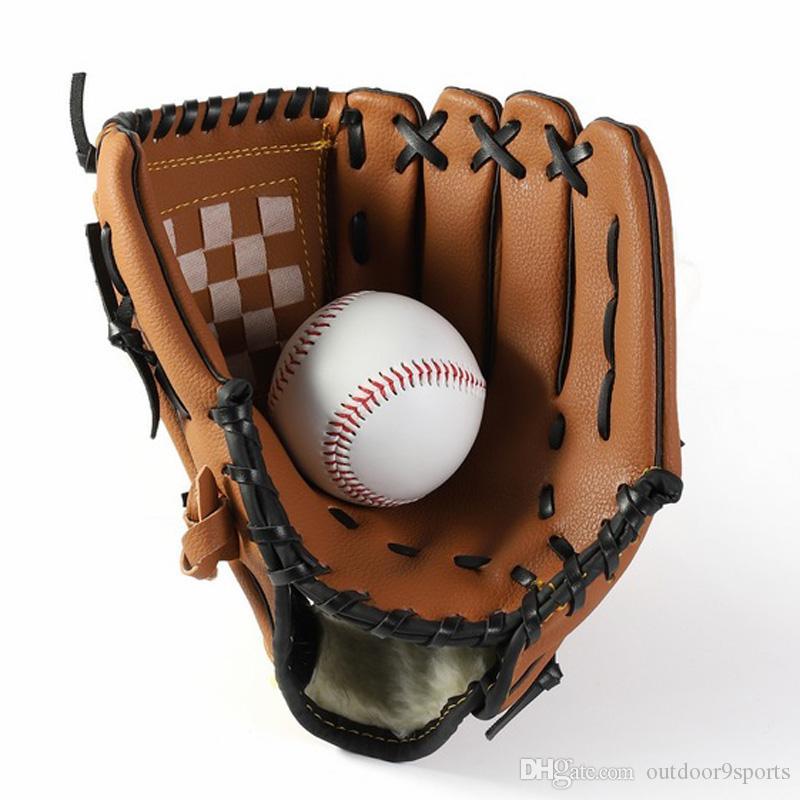Luvas New Outdoor Sports Brown Baseball Glove Softball Practice Equipment única mão Thicker Pitcher Softball Luvas