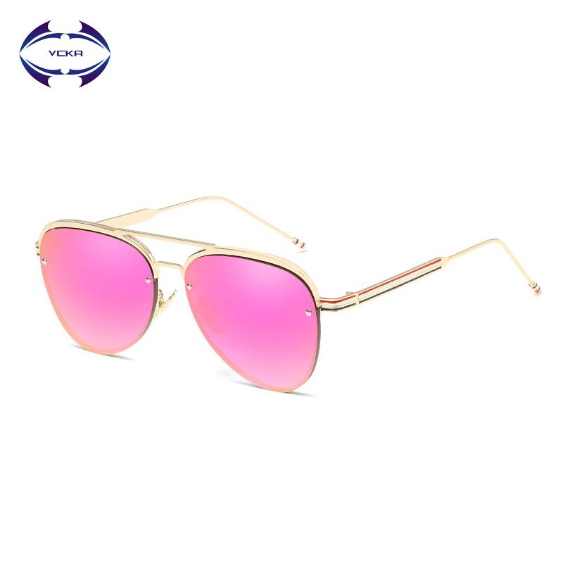 2463e61c2e Wholesale Vintage Oversized Pilot Sunglasses Women Men Fashion Brand  Designer Metal Frame Marine Sun Glasses Female UV400 Eyewear Online with   29.69 Piece ...