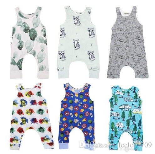 78bb092e6 2019 Baby Print Rompers Multi Designs Boy Girls Cactus Forest Road ...