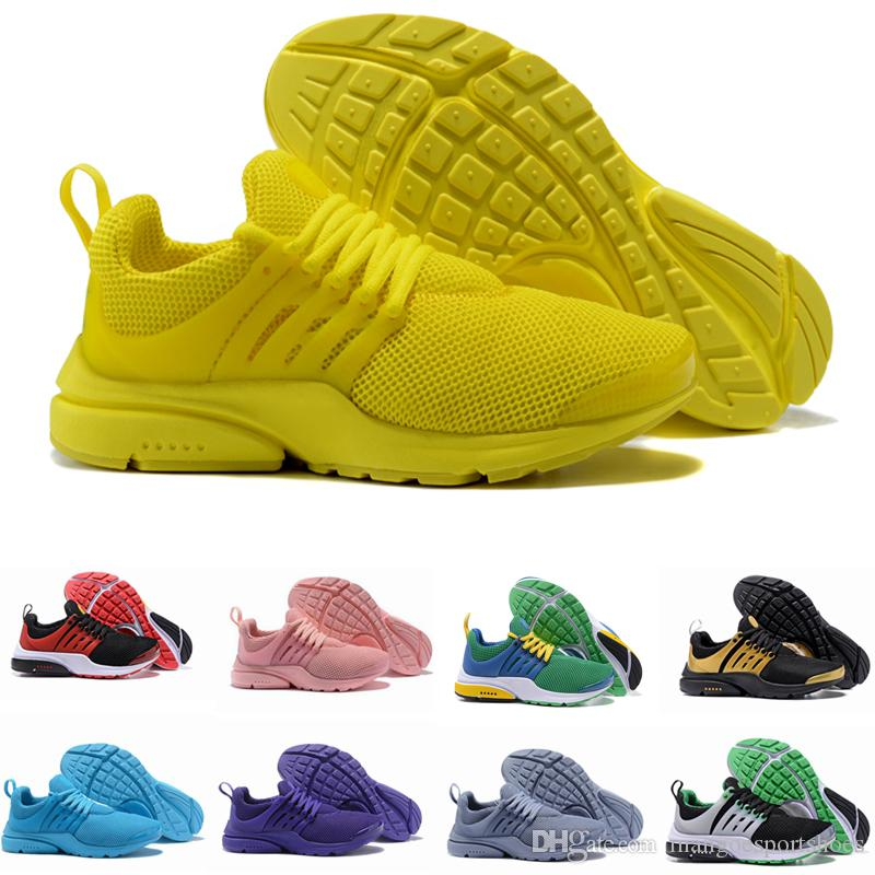 2019 New PRESTO BR QS Breathe Yellow Black White Mens Prestos Shoes  Sneakers Women 93066556b3bc