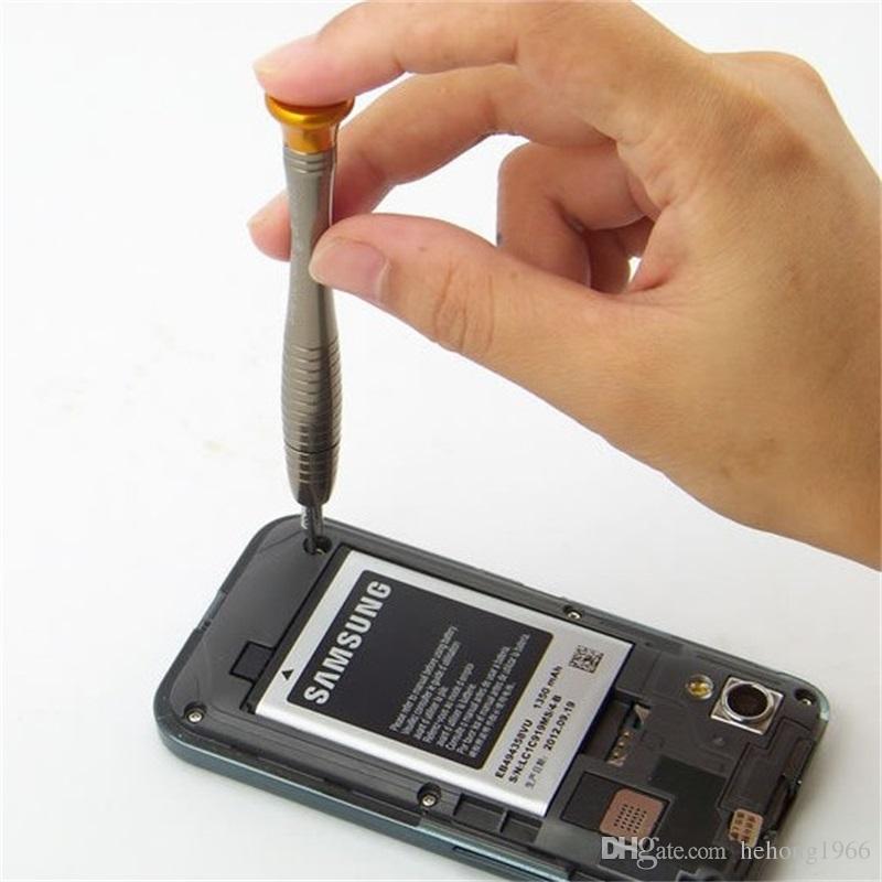 Herramienta de reparación multifunción Teléfono móvil Ordenador Reloj de pulsera Gafas Desmontar Traje Perno portátil Destornilladores Bolsa de cuero 9 8ys V
