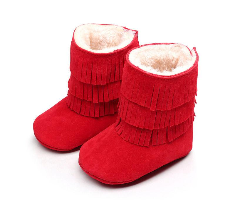 064831497c67 Baby Infant Child Boys Girls Warm Snow Boots Fur Winter Cotton ...