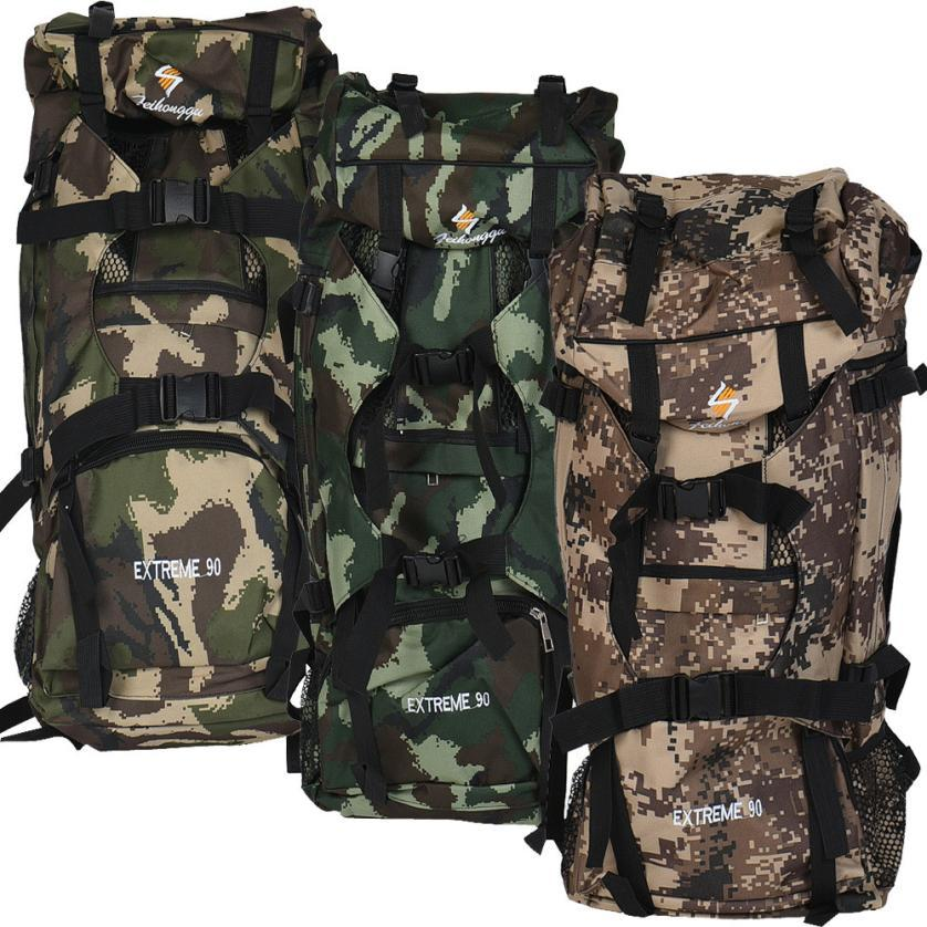 e7adf55b62e2 90L Large Camouflage Hiking Mountaineering Camping Hunting Backpack ...