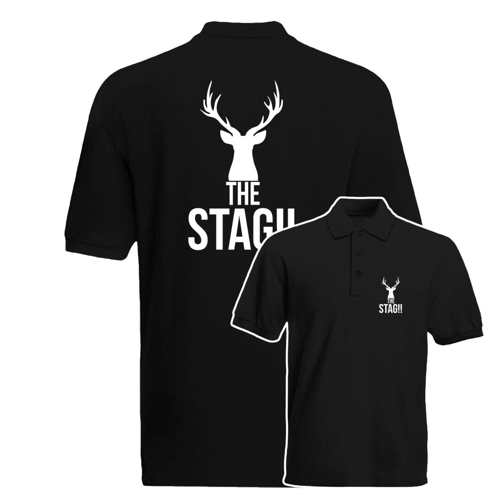 b65e8ff1 The Stag Polo Shirt, Stag Do, Hen Do, Bachelor Party Gift Polo Top Cotton  Men T Shirts Classical Top Tee Basic O Neck Fashion White Shirt Tee Shirts  From ...