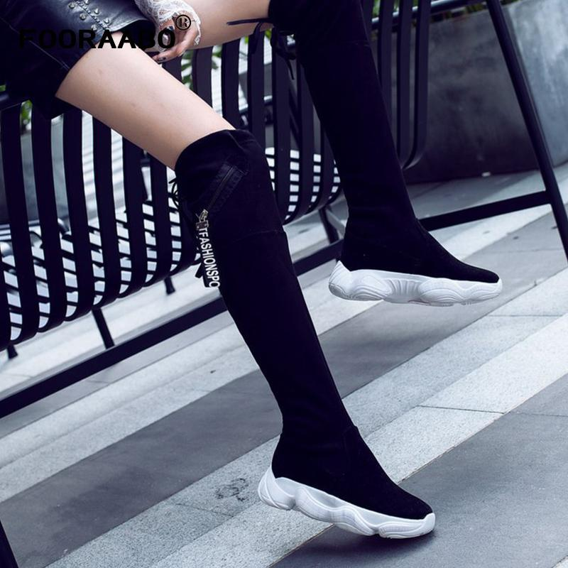 3589a7e3f Thigh High Boots Women Sock Boots 2018 Stretch Fabric Shoes Slip On Over  The Knee Women Pumps Stiletto For Womens Ankle Booties Combat Boots For  Women From ...