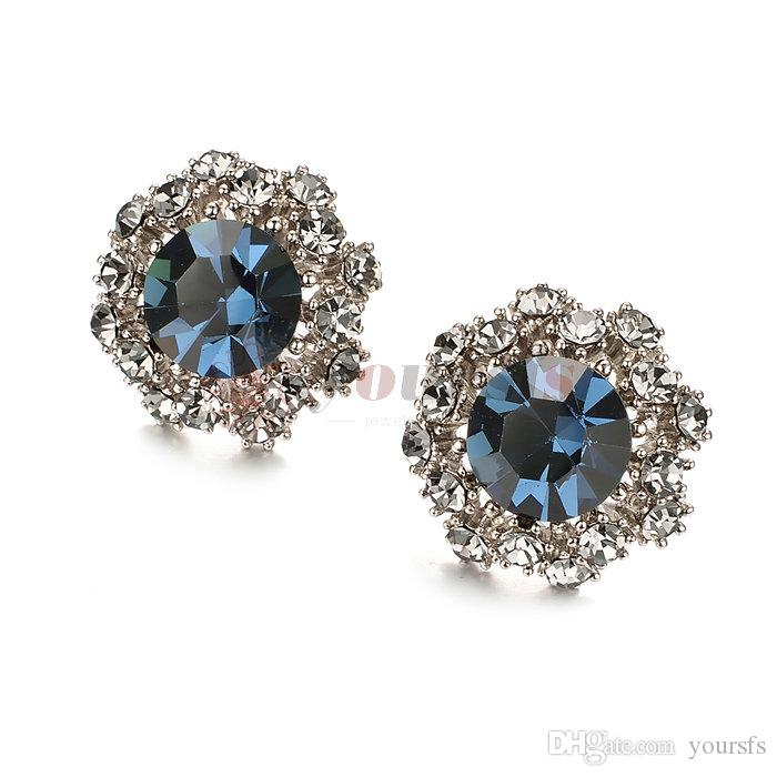 e9217b90c Yoursfs Vintage Stud Earrings for Women Dainty Crystal Earrings Party  Jewelry Flower Earrings Earrings for Women Fashion Earring Statement  Earrings Online ...