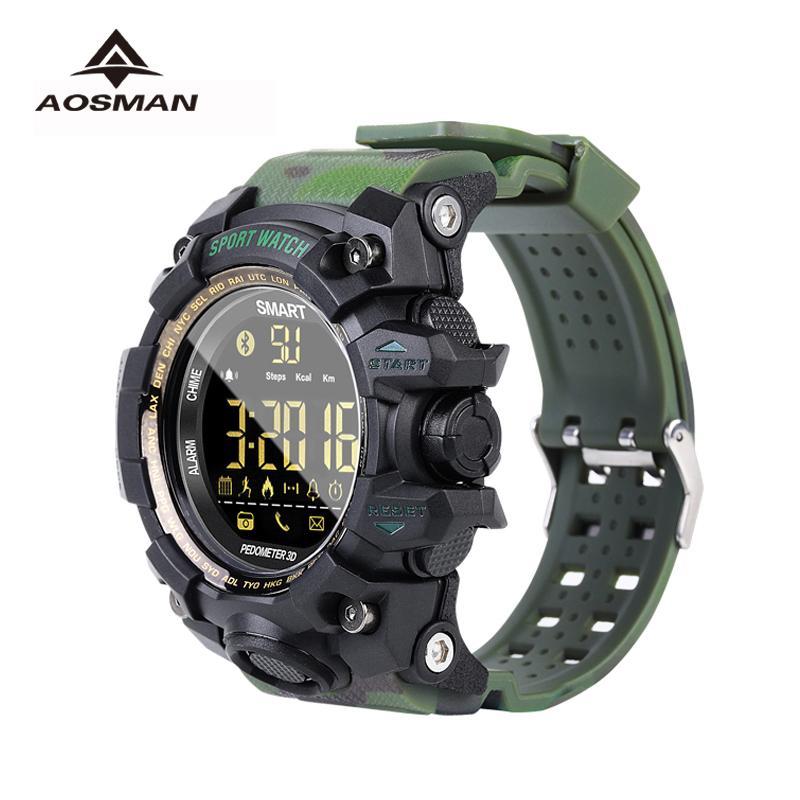 333d9ac38698 Compre AOSMAN New Camouflage Reloj Deportivo Calorie Steps Distance Tracker  Recordatorio De Llamada SMS Reminder Reloj Inteligente Para Hombre Mujer A   33.6 ...