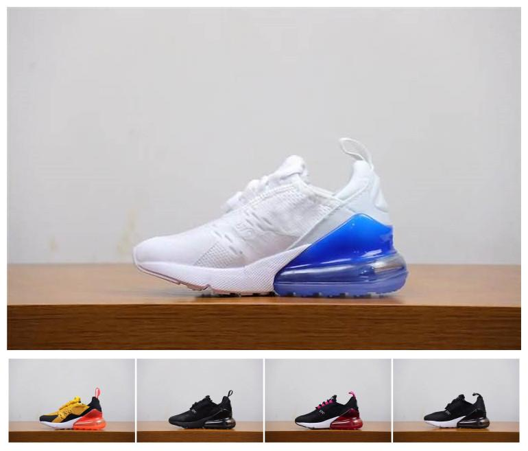 new product c5a9d 617ca Kids designer 270s Running Shoes 27C Bruce Triple Black White Oreo Teal  Photo Blue 270 tn presto Children Toddler Trainer Sports Sneakers