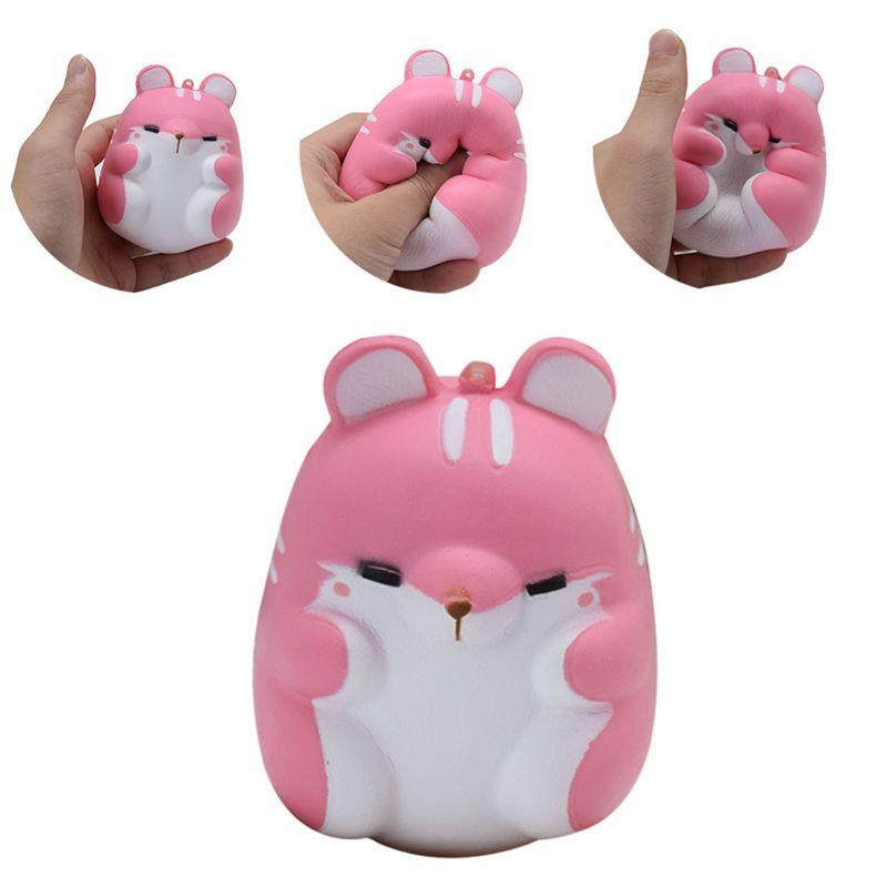 Squishies Hamster Yavaş Yükselen Fidget Kabartma Oyuncak Parfüm Sevimli Tatlı Hayvan Yumuşak Mavi Pembe Turuncu Beyaz Telefon Kolye SQU003