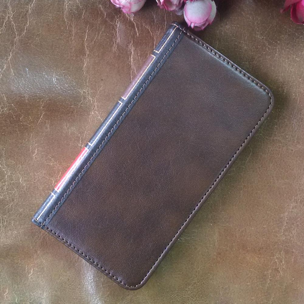 Flip Leather cell Phone Case for LG Q7 Cover Wallet Retro Bible Vintage Book Business Pouch