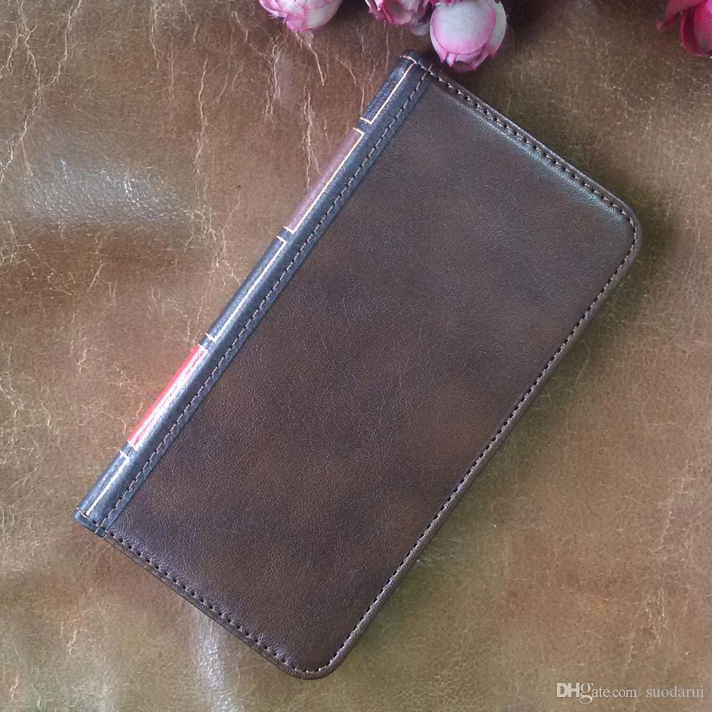 Flip Leather cell Phone Case for Motorola Moto P40 Cover Wallet Retro Bible Vintage Book Business Pouch