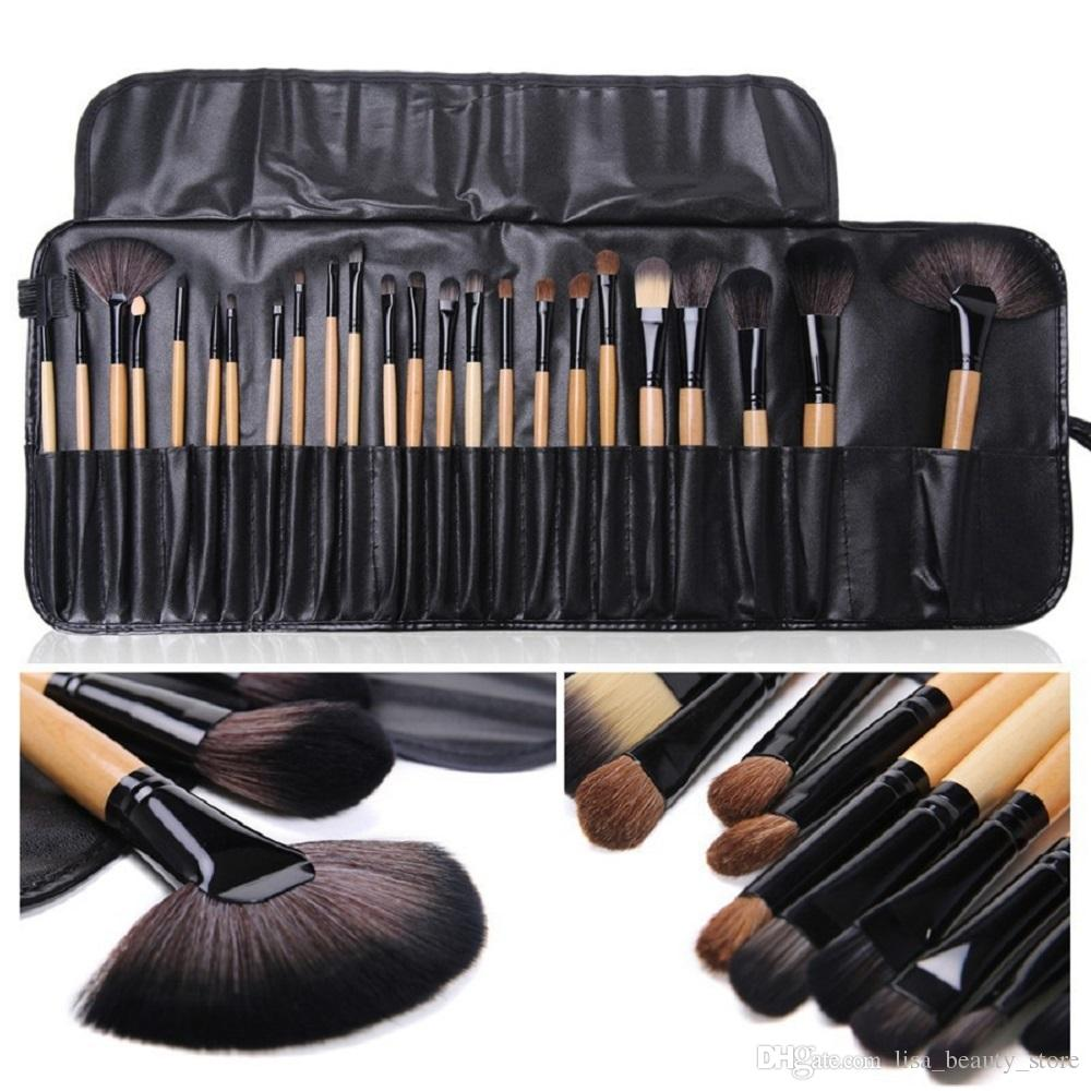 8444c507fcb3 Stock Clearance 24Pcs Makeup Brushes Wood Color Makeup Brushes Horsehair  Sets Gift Brush Kit Cosmetic Tools 3 SETS WHOLESALE