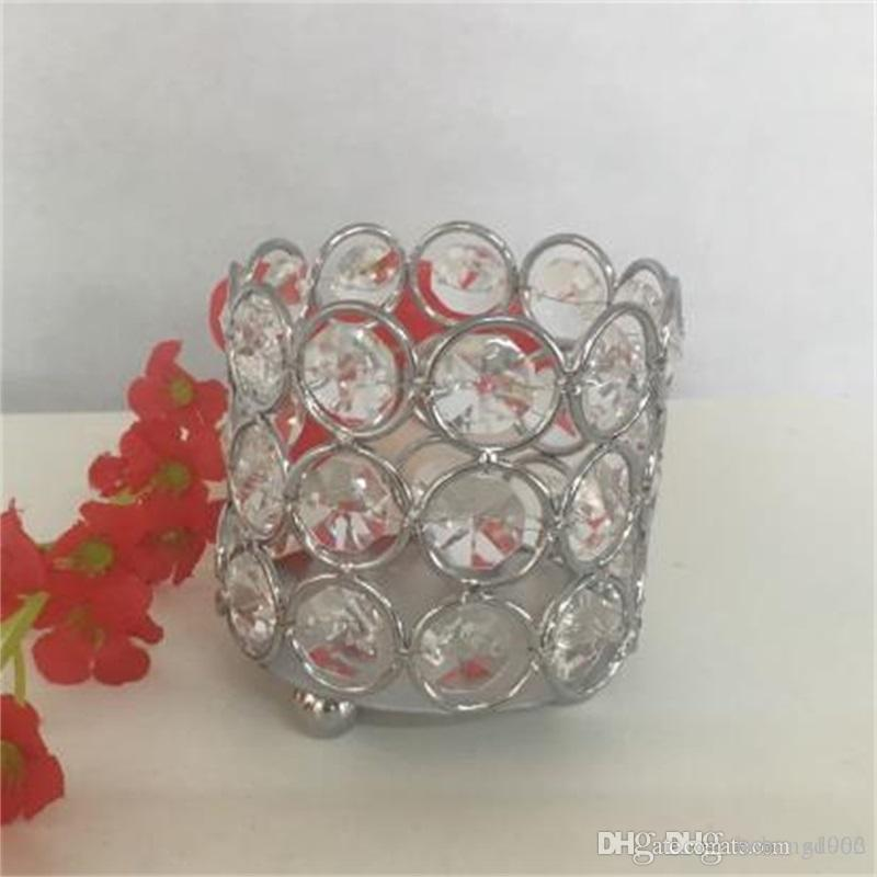 Glass Crystal Votive Candlestick Home Decor Square Shape Candle Holders Portable Exquisite Candler Creative Wedding Supplies 9 5st jj