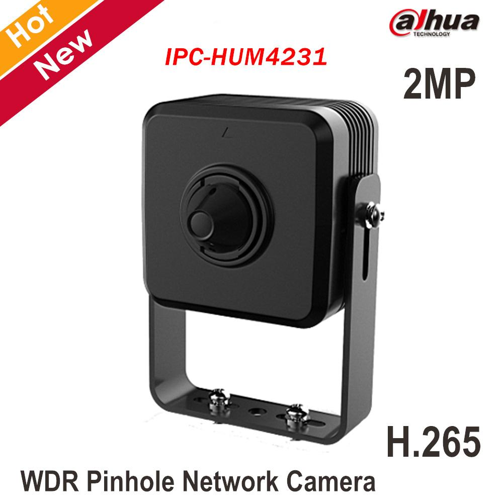 Dahua 2MP WDR Pinhole Camera IPC-HUM4231 1/2 7 CMOS H 265 2 8 mm pinhole  lens Support Face Detection Network Camera Security cam