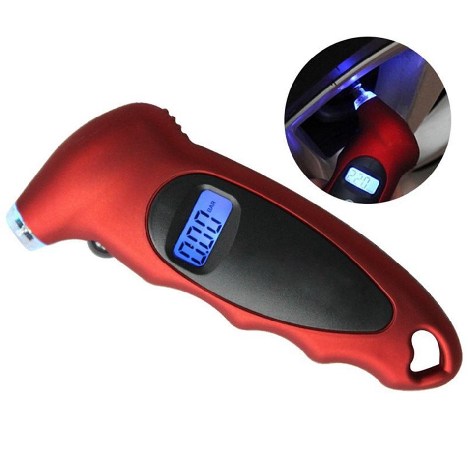 LCD Dijital Lastik Lastik Hava Basıncı Ölçer Tester İçin Araba Oto Motosiklet Otomobil Dijital Lastik Basıncı Aracı OOA4845