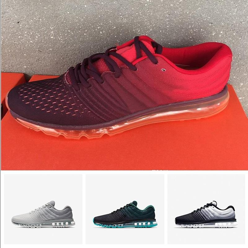 a80981fb71daad Großhandel Nike Air Max 2017 Basketball Shoes Neue Ankunft Hohe Qualität  2017 Herren Frauen Schuhe Mode Bengal Orange Grau Atmungsaktive Schuhe  Größe 36 40 ...