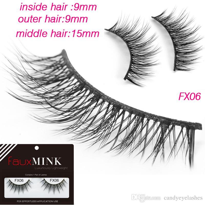 4c3f2b19003 FX06 Natural False Eyelashes Hand Made Make Up False Eyelash 3d Mink Eyela  3D Silk Faux Mink Strip Cruelty Free Mink Eyelash for Makeup Silk Eyelashes  Real ...