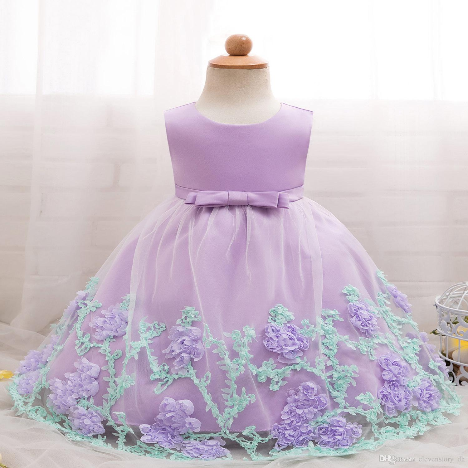 2018 6 months to 2 years baby girls tutu flowers dresses summer 2018 6 months to 2 years baby girls tutu flowers dresses summer kids party wear children birthday festival clothing retail r1aax808ds 01 from izmirmasajfo