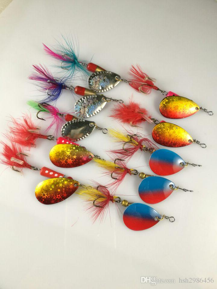 leurres pêche spinner attrape 6.7g 8.5g 5.5g
