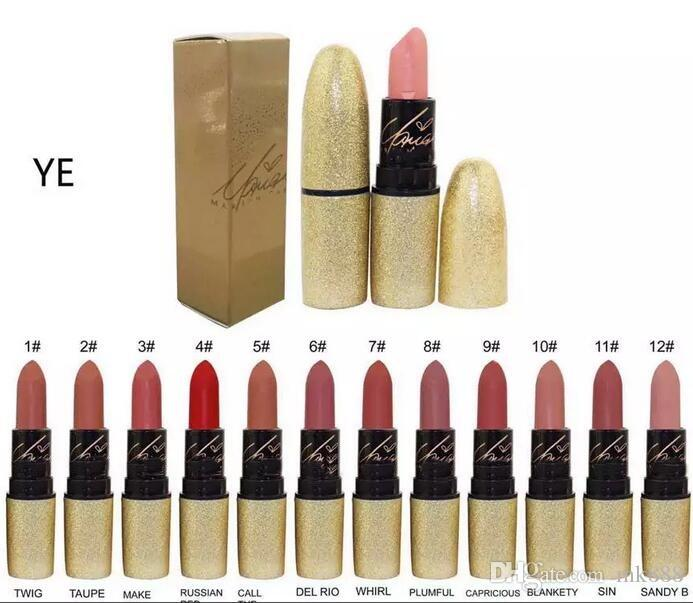 good quality Lowest Best-Selling good sale NEW Makeup MATTE Lipstick /ROUGE A LEVRES Twelve different colors 3g+ gift