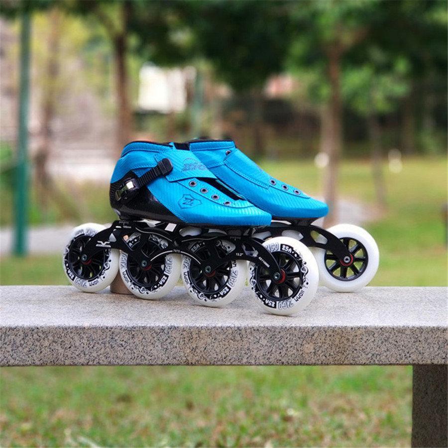 754098ff7 Compre Tamanho Do Tamanho 30 44 Velocidade Inline Patins De Fibra De  Carbono Competição Skate 4 Rodas De Corrida De Rua Patinação Patines  Semelhante Com ...
