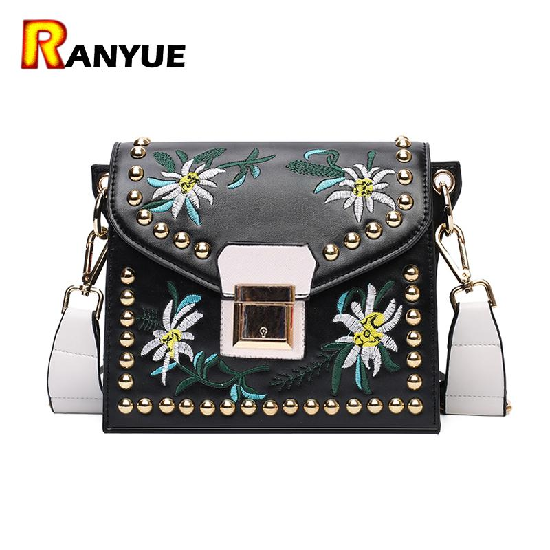 1ea013991f62e Vintage Rivet Floral Embroidered Handbags Leather Bags Women Purse Ethnic  Embroidery Bag Small Shoulder Women Messenger Bags Branded Bags Leather  Backpacks ...