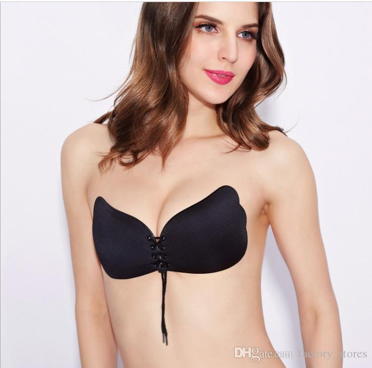 8868883b9956c 2019 Strapless Women Invisible Bra Nubra Butterfly Self Adhesive Bra With  Drawstring Silicone Backless Durable Push Up Bras Good Quality From  Factory stores ...