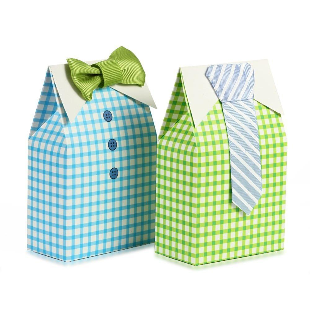 50pcs My Little Man Blue Green Bow Tie Birthday Boy Baby Shower Favor Candy Box For Wedding Favor Birthday Party