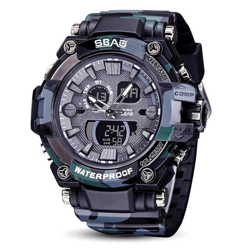 fotos oficiales 46eeb 312fc 2018 Reloj resistente al agua Relojes deportivos Reloj digital relogio  masculino Parada