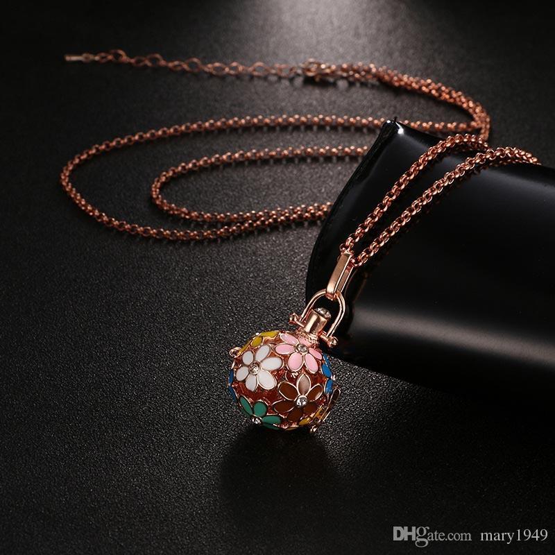 Диффузор Медальон Ожерелье Эфирное Масло Диффузор Ожерелья Цветок Ароматерапия Диффузор Ожерелье Ювелирные Изделия Подарок 3 Цвета