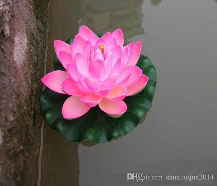 2019 18cm Artificial Floating Lotus Flowers Garden Aquarium Floating