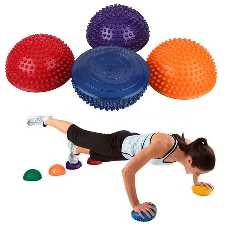 a96aab5ed4 Compre Yoga Meia Bola Exercício De Fitness Física Exercício Equilíbrio Ponto  De Bola Massagem Stepping Bosu Equilíbrio Almofada GINÁSIO Yoga Pilates De  ...