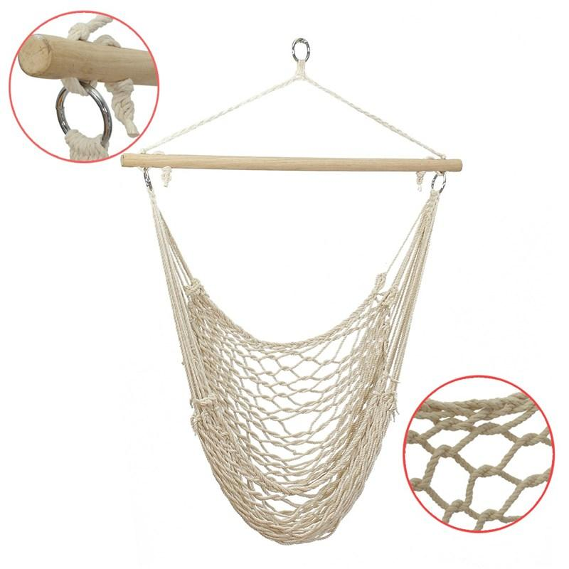 99b31d2a1 2019 SGODDE Outdoor Hammock Chair Hanging Chairs Swing Cotton Rope Net  Swing Cradles Kids Adults Outdoor Indoor Hot Sale From Hilery, $105.8 |  DHgate.Com