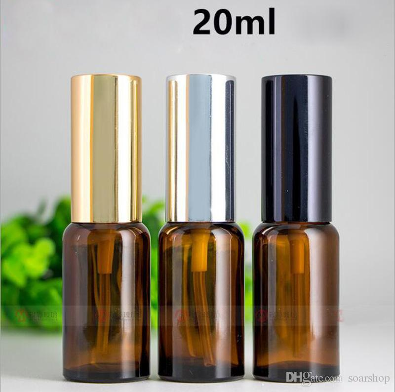 Fast Shipping Mini Portable Refillable Perfume Atomizer Glass Spray Bottles 20ml Empty Travel Bottles Cosmetic Perfume Containers