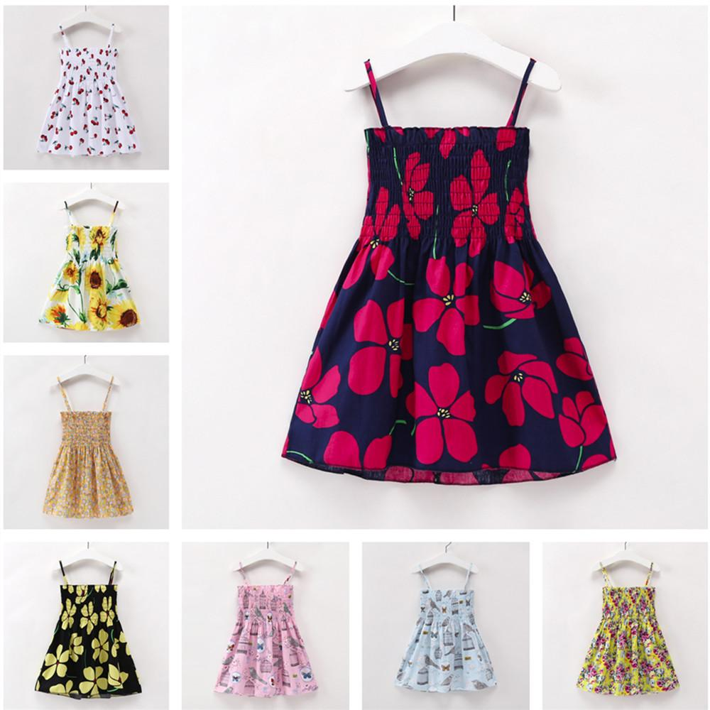 5d8ec06c4a33 2019 2 7y Toddler Kids Baby Girls Dresses Clothes Children Girl Sleeveless  Flowers Dress Summer Princess Dresses Infant Girl Clothing From Luckyno, ...