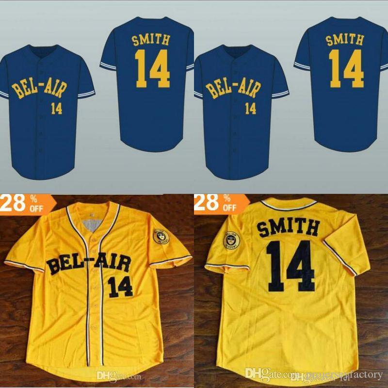 a5f73d04425c 2019 Fresh Prince Will Smith Bel Air 14 Academy Baseball Jersey Stitch Sewn  Baseball Jerseys Double Stitched Name And Number Movie Jerseys From ...
