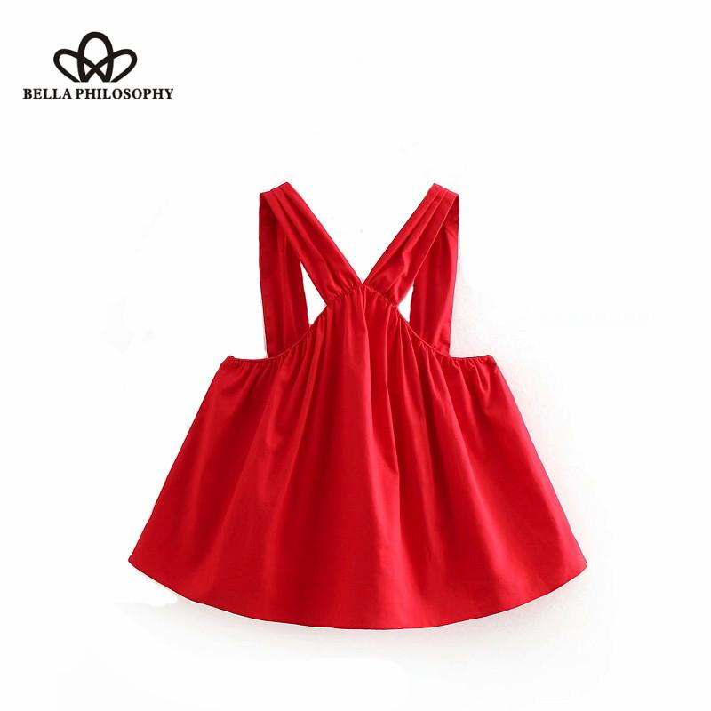 6900a725c4340 Wonder 2018 new summer vintage sleeveless pleated candy color halter casual  blouses ladies backless shirt chic femininas blusas