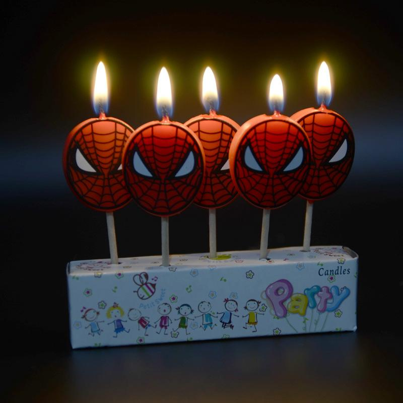 2019 Pack Birthday Candles Spider Man Shower Cake Cupcake Toppers Party Decoration Supplies From Griffith 2481