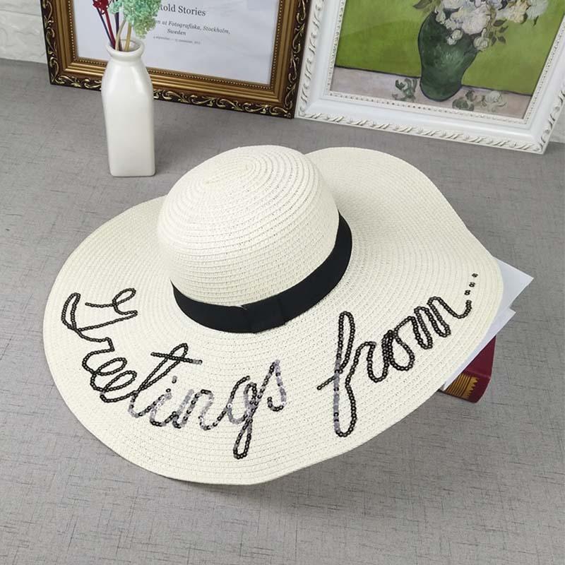 c8689a45e7062 Women S Straw Hat Summer Travel Beach Sun Hats Wide Side Foldable ...
