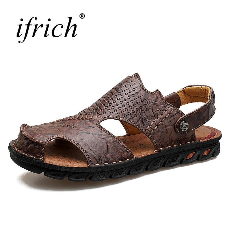 cheap geniue stockist view sale online Casual Summer Anti-slip Leather Sandals for Men buy cheap popular C0ReRgS