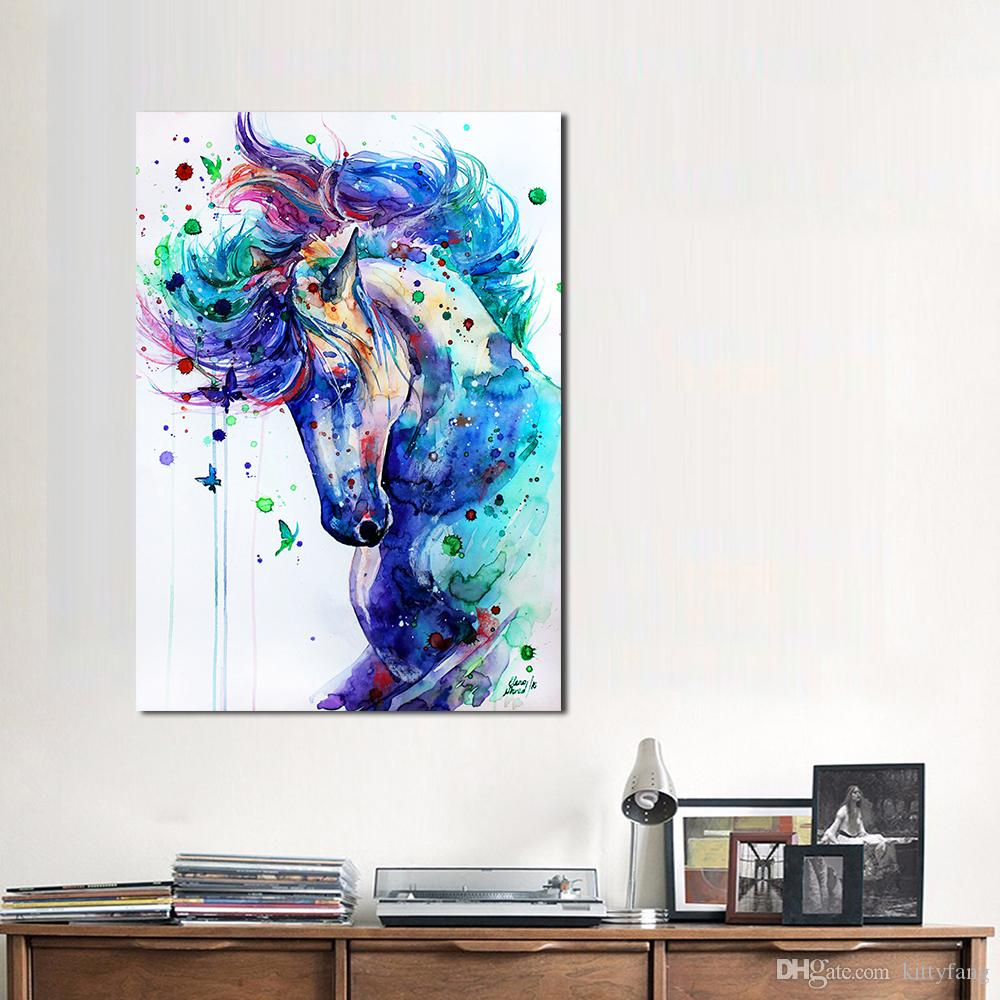 1 Panel Animal Painting Cool Horse Paintings On Canvas Modern Wall ...