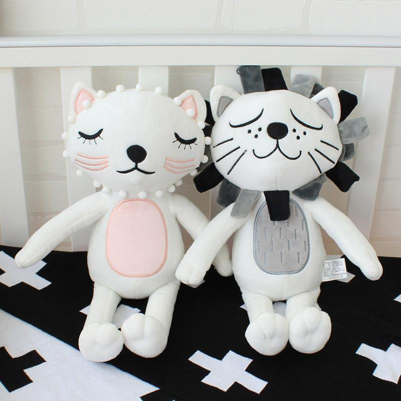 Baby Kissen Kinder Stofftiere Mädchen Jungen Lion Cat Dolls Kinderzimmer  Dekoration Coshion Säuglingsfotografie Requisiten Baby Bettwäsche