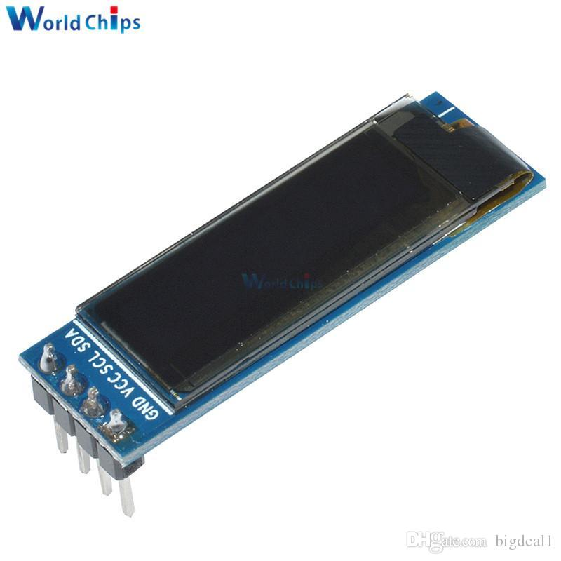 0 91 Inch 128x32 IIC I2C Blue OLED LCD Display DIY Oled