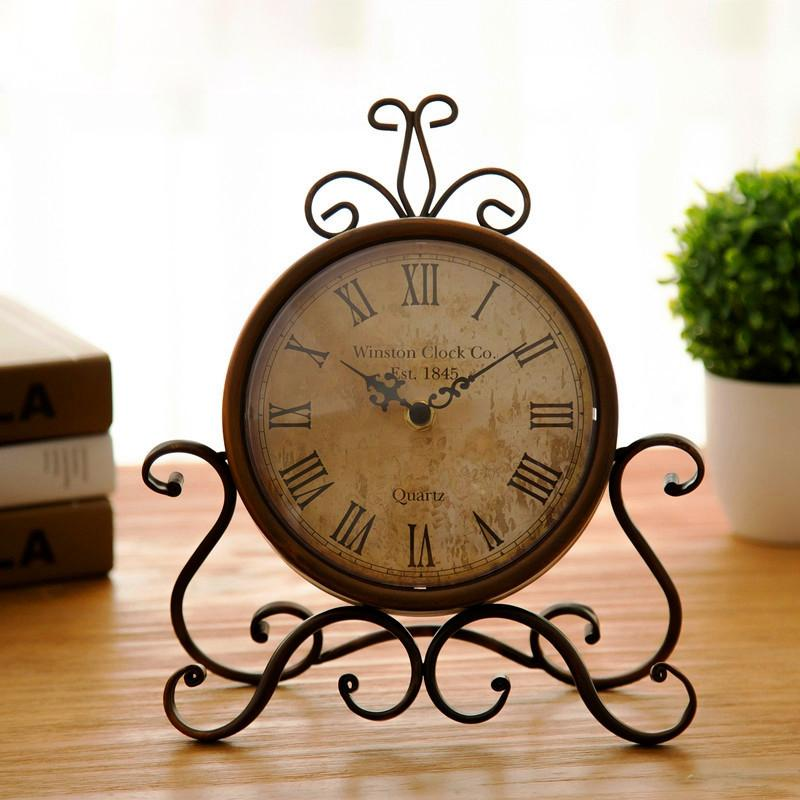decorative desk clocks 2018 vintage iron desk clock decorative kitchen table factory direct from narciss 4924 dhgatecom