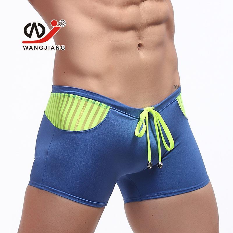 e8ad99fa332 2019 New Mens Sexy Swimwear Swimsuits For Man Beach Swimming Wear Sea Trunks  Discount Swim Mens Swim Boxer Shorts Surf Board Shorts From Ppkk