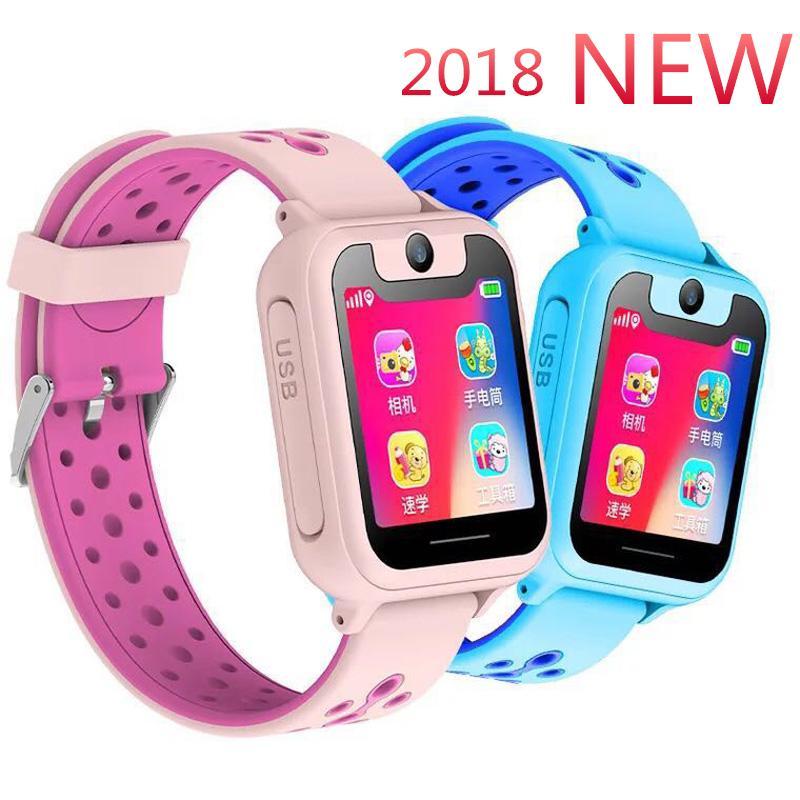 5351258da 2018 New Smart Watch Kids Location Tracker With Camera Waterproof For Children  Girls Boys Smartwatch Phone SIM Call Antilost SOS Basis Smart Watch Best ...